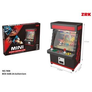 Image 4 - Fighter Game Model UFO CATCHER Building Bricks Brinquedos for Kids Gift 7808 ZRK Mini Blocks Cartoon Building Toy  VS loz