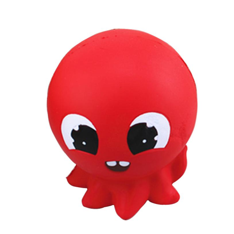 Squishy Red Octopus Bread Phone Straps Slow Rising Bun Charms Gifts Toys   5.17