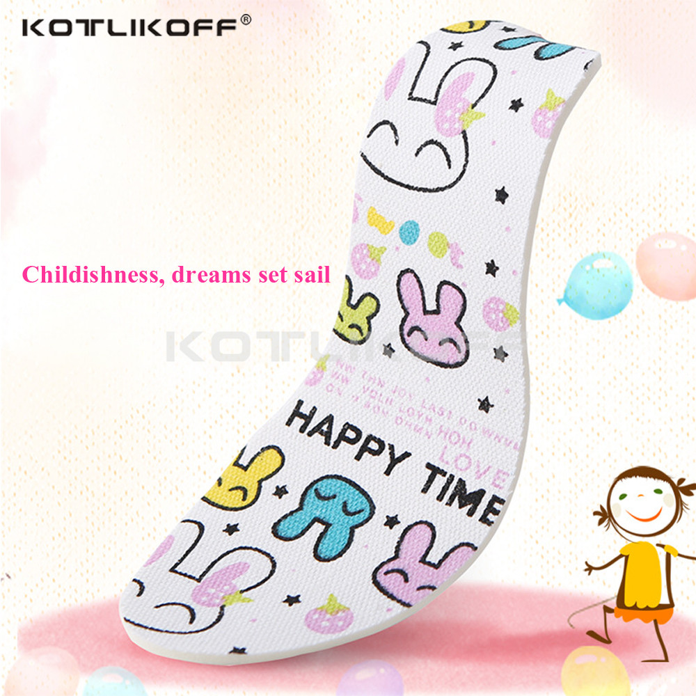 KOTLIKOFF Childrens insoles sweat absorption deodorant breathable insole latex canvas cute cartoon shock absorbing insole