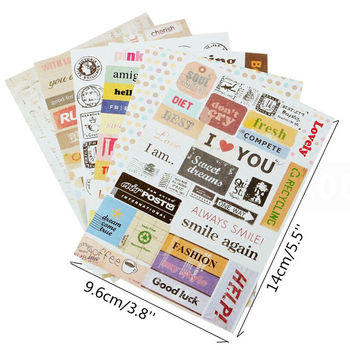 6pcs/lot Retro Postmark Postage Stamp Stickers Decal For Snowboard Laptop Luggage Car Fridge Car- Styling Sticker Pegatina image
