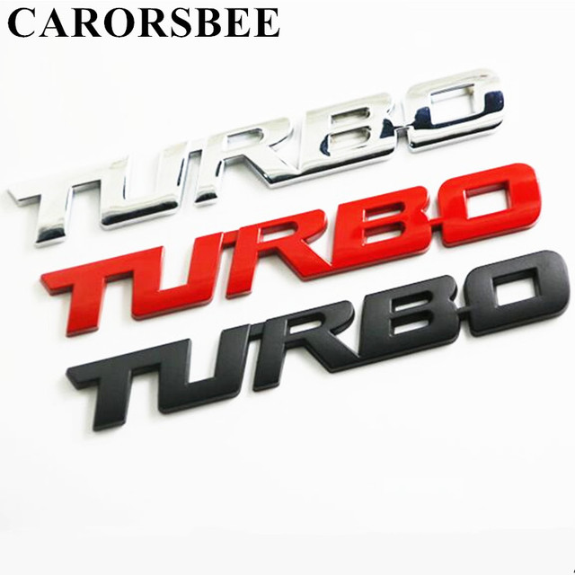 Carorsbee 3d metal chrome turbo emblem badge car sticker letter auto rear trunk decals for mazda