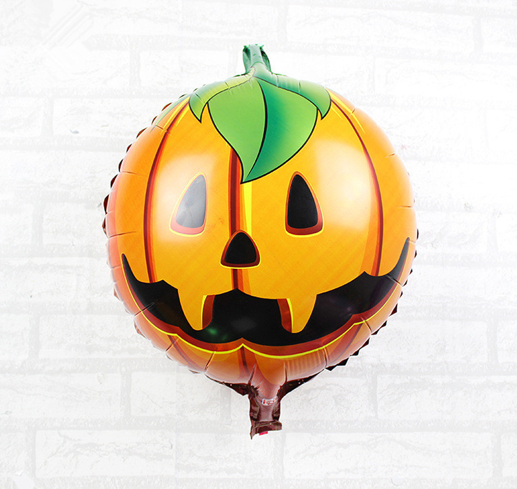 2pcslot 18 inch halloween horror pumpkin head foil balloons halloween party decoration balloons kids classic toy supplies