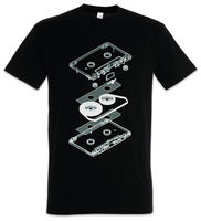 EXPLOSION AUDIO CASSETTE T SHIRT Retro Kassette MC Music Tape Player T Shirt