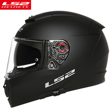Фотография  New Original LS2 FF390 Men motorcycle helmet double lens with anti-fog pinlock Chrome mirror full face racing moto helmets