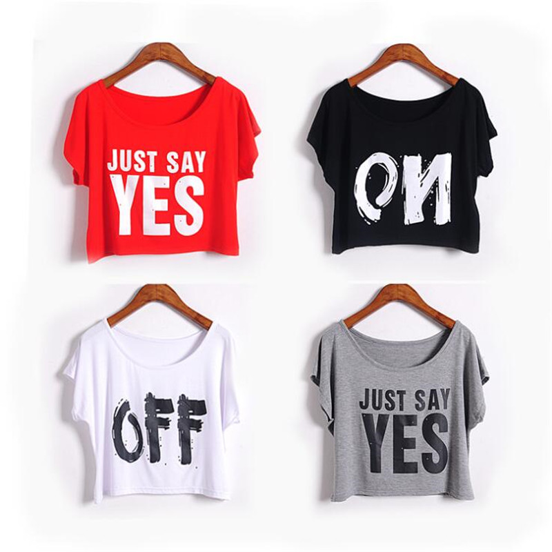 summer style letter print cotton short-sleeved outer small   tank     top   wild casual round neck   tops