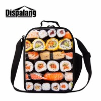 Dispalang lunch sack apply to students print food pattern on lunch bags children's insulated cooler bag mini lunch tote for work