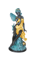 Life size villa decoration bronze statues fairy girl sculpture for Outdoor ornaments for sale