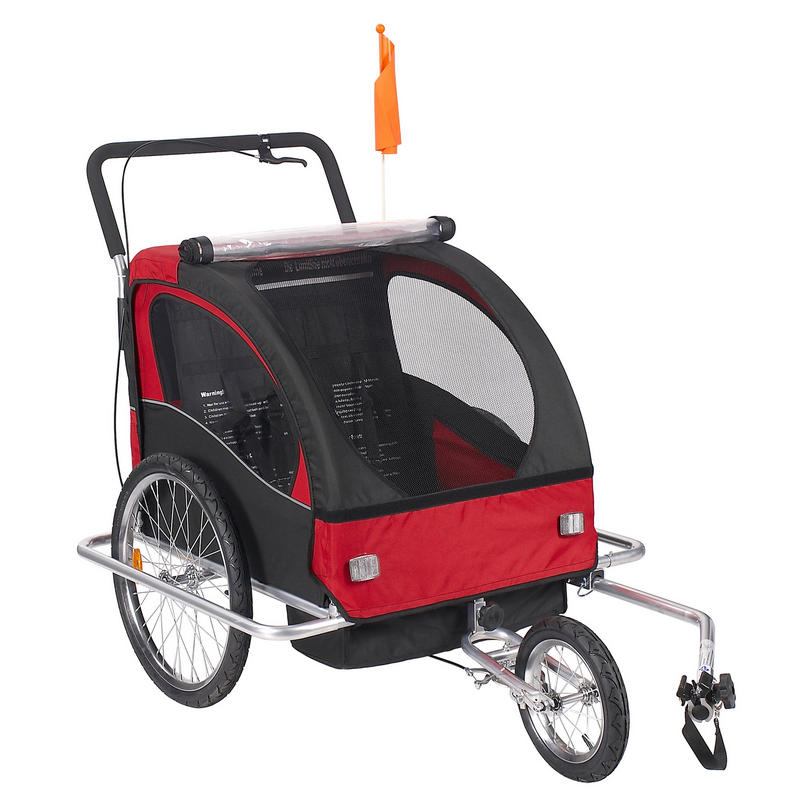 Châssis en alliage d'aluminium bébé poussette avec 20 pouces roue, fold vélo remorque, enfants jogger poussette, vélo Tandem vélo remorque