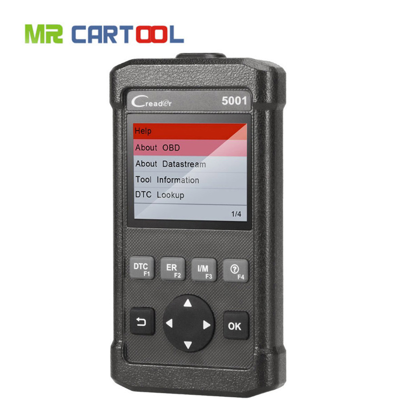 New Launch CReader CR5001 Code Reader Diagnostic Tool Full Functions OBD2 Scanner with O2 Sensor Test and On-board Monitor Test u480 1 5 lcd universal can bus obd2 car diagnostic code reader memo scanner