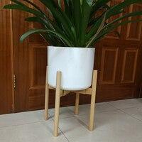 Adjustable Plant Stand Holder Rack Wooden Sturdy for Flower Potted Indoor Outdoor 669