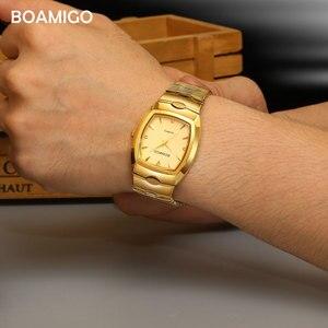 Image 3 - Boamigo homens relógios de luxo de moda quartzo relógio de ouro de aço inoxidável portátil de negócios relógio de pulso masculino relógio relogio masculino