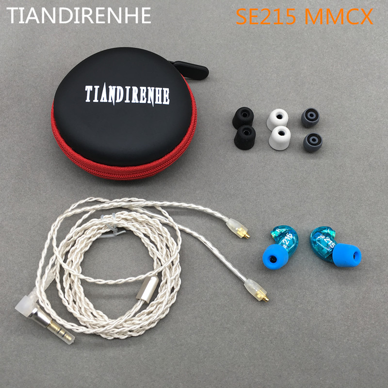 2017 DIY SE215 Headset Hifi Stereo In Ear Earphones Noise Cancelling Bass headphone For shure mmcx jack aptx Bluetooth adapter brand new mee m6pro top quality earphones hifi noise cancelling bass earphones pk se215 ie800 syllable earphones with retail box