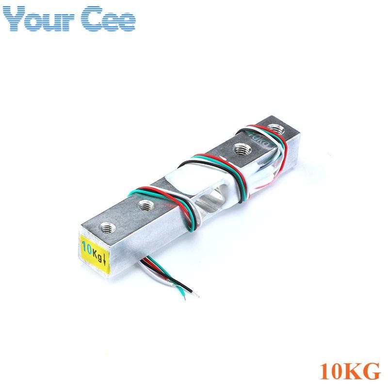 Тензодатчик 1 кг 5 кг 10 кг 20 кг HX711 AD модуль датчик веса электронные весы алюминиевый сплав взвешивания датчик давления - Цвет: 10KG