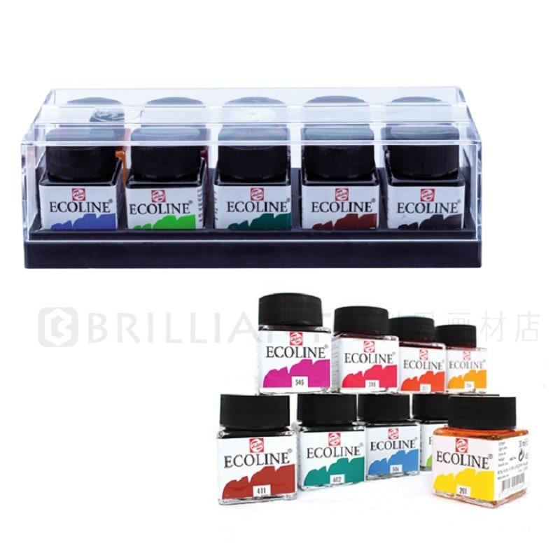 Ecoline ART couleur transparente 10 couleur 30 ML aquarelle Pigment pur Iiquid costume verre bouteille assembler