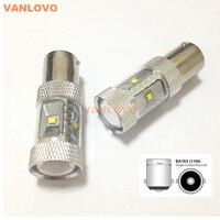 2x 1156 P21W BA15S 30W LED DRL Reverse Brake Indicator Light Bright White Non polar