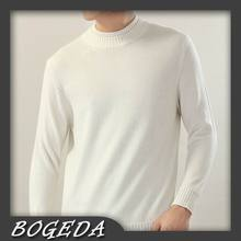 Cashmere sweater Men's Pullover Turtle Double necks Off-white Natural fabric High Quality Stock clearance Free shipping