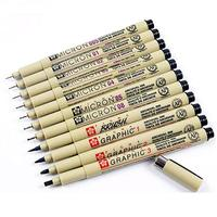 Sakura Pigma Micron Pen Neelde Soft Brush Drawing Pen Set 11PCS Black Sakura Pen 005 01 02 03 04 05 08 1 2 3 Brush Art Markers