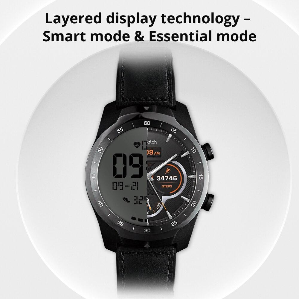 Reloj inteligente Original Ticwatch Pro Bluetooth IP68 soporte impermeable pagos NFC/Google asistente Wear OS por GPS de Google Watch - 3