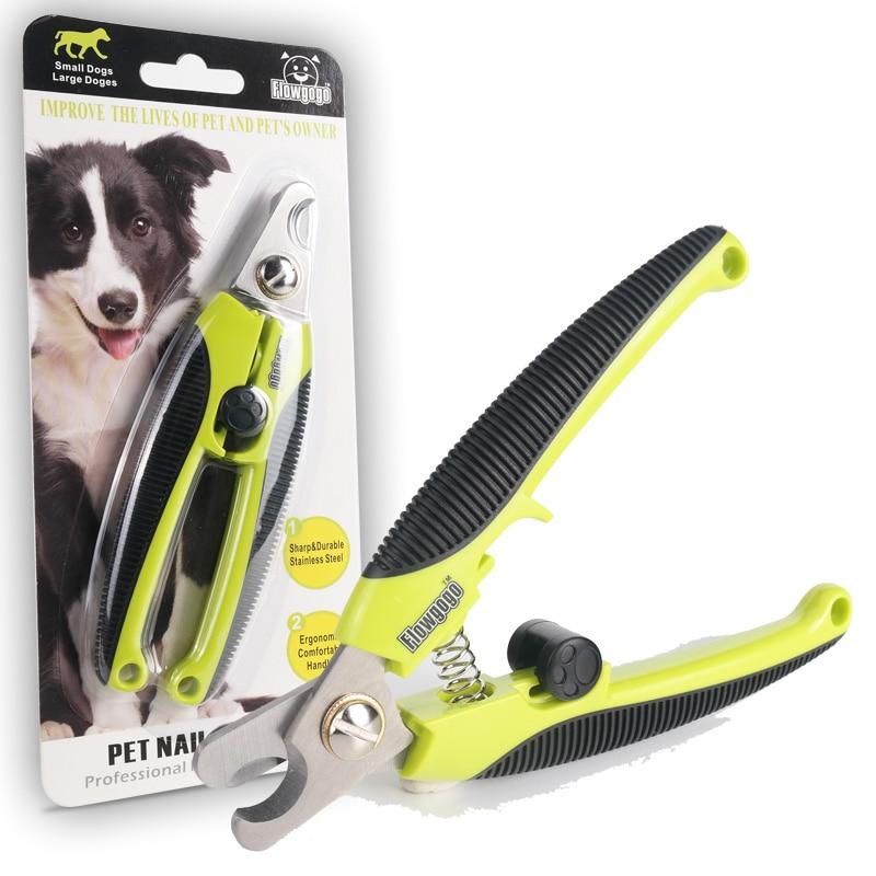 FLOWGOGO Professionelle Edelstahl Hund Nagelknipser Haustier Katze Nagelschere Nagelschneider Welpen Hundesalon Schere
