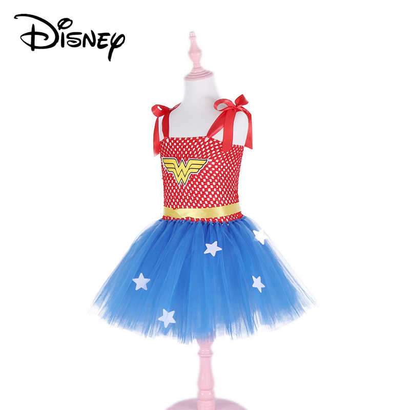 c5a674e0b9 Disney Frozen Superhero Inspired Girls Tutu Dress Red   Blue Girl Party  Dress Halloween Christmas Costume