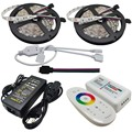 10M Flexible RGB Led Strip SMD 5050 Non-waterproof Tape Light + 2.4G Touch Panel RF Led Remote Controller+12V 6A Power Adapter