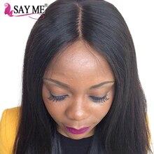 Бразильский Прямо Девы волос Кружева закрытия 4×4 необработанные 100% человеческие волосы с ребенком волосы средней части верхней крышки sayme волос