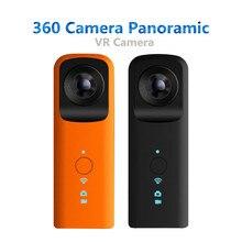 Vr панорамный 360 Камера Fisheye Двойной объектив путешествия ручной видео Камера виртуальной реальности WI-FI микрофон для Android/IOS