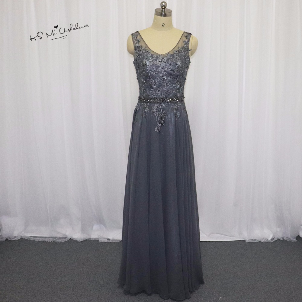 robe demoiselle d 39 honneur gray champagne bridesmaid dresses long dress for wedding party lace. Black Bedroom Furniture Sets. Home Design Ideas