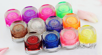 12 Colors Glitter Nail Gel High Quality Nail Art Gel Polish Acrylic UV Gel Little Dust