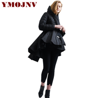 YMOJNV 2017 Winter Womens Down Jackets Hooded 90 White Duck Down High Quality Warm Black Skirt