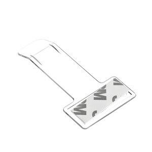 Image 3 - Şeffaf 2 adet/takım plastik otopark bilet kelepçe 7.5x4x0.10cm bilet klip plastik tutucu