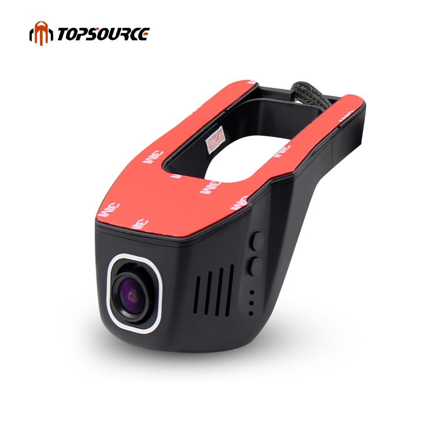 TOPSOURCE 1080P Novatek Wide Angle Mini WIFI Car DVR Auto Dash Camera Video Registratore Registratore Videocamera Night Vision Dash cam