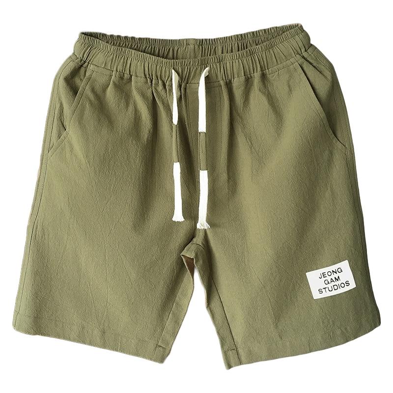 Shorts Men 2018 Summer Casual Shorts Mens Bermuda Breathable Linen Cotton Trousers Beach Board Short Pants Male Plus Size M-5XL