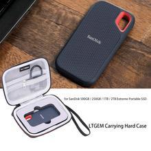 LTGEM Hard Case for SanDisk 500GB / 250GB / 1TB / 2TB Extreme Portable SSD (SDSSDE60) - Travel Protective Carrying Case