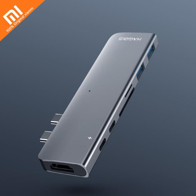 Original xiaomi mijia thinking docking station seven interface lightning 3 fast transmission support 8k video double head Type-c