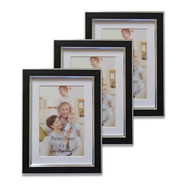 Giftgarden Black 4x6 Inches Picture Frames Set For Wall Decor, 3 PCS ...