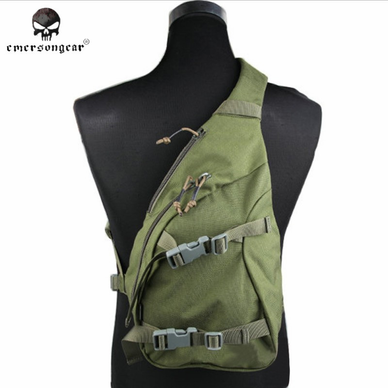 ФОТО Emerson Delta Sling Pack 1000D Nylon Tactical Chest Bag Recon Military Tactical Gear Hunting Paintball Shoulder Bag EM5741 OD ^