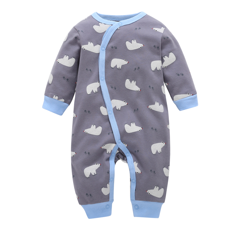2019 Promotion Full Baby Boys Animal Newborn Clothes New Long Sleeve 100% Cotton Cute Bear One Piece   Romper   Costume Winter