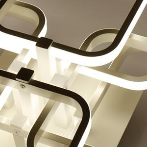 Image 5 - 현대 가정 비품 led 샹들리에 다이닝 룸 침실 거실 블랙/화이트/커피 완료 led 샹들리에 입력 ac220v