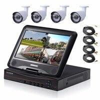 4CH 1080P HDMI DVR 1200TVL 960P HD Outdoor Security Camera System 4 Channel CCTV DVR Kit