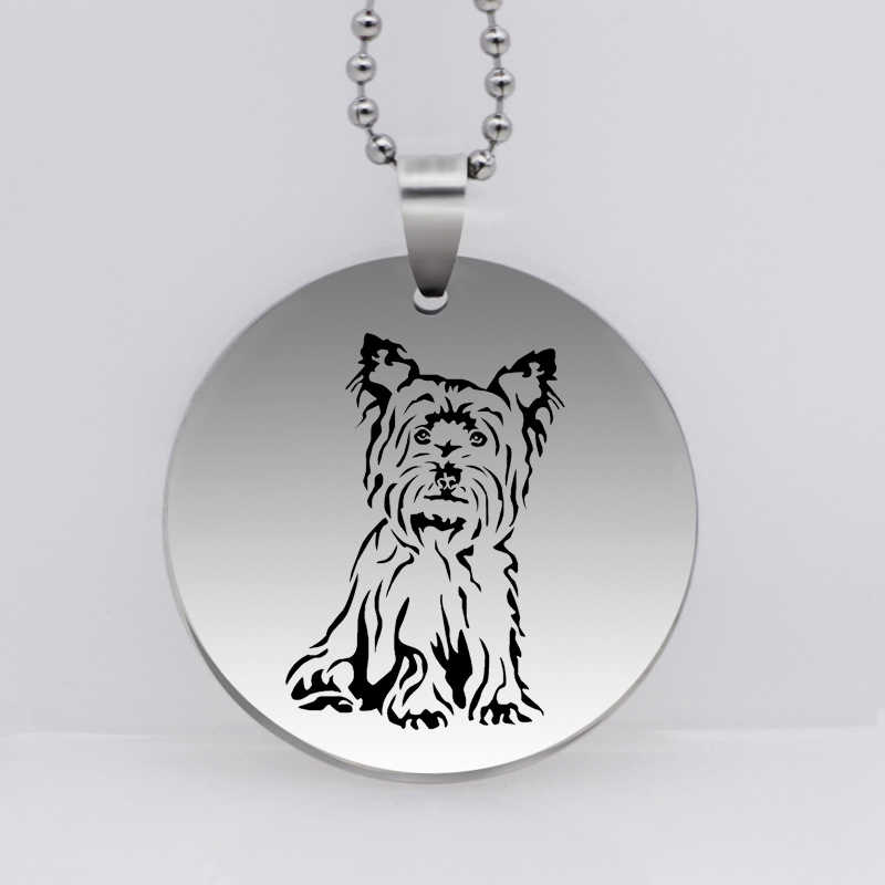 PAW PRINT Stainless Steel Yorkshire Terrier Dog Pendant Personality Animal Dog Necklace Gift for Women Drop Shipping YLQ6289