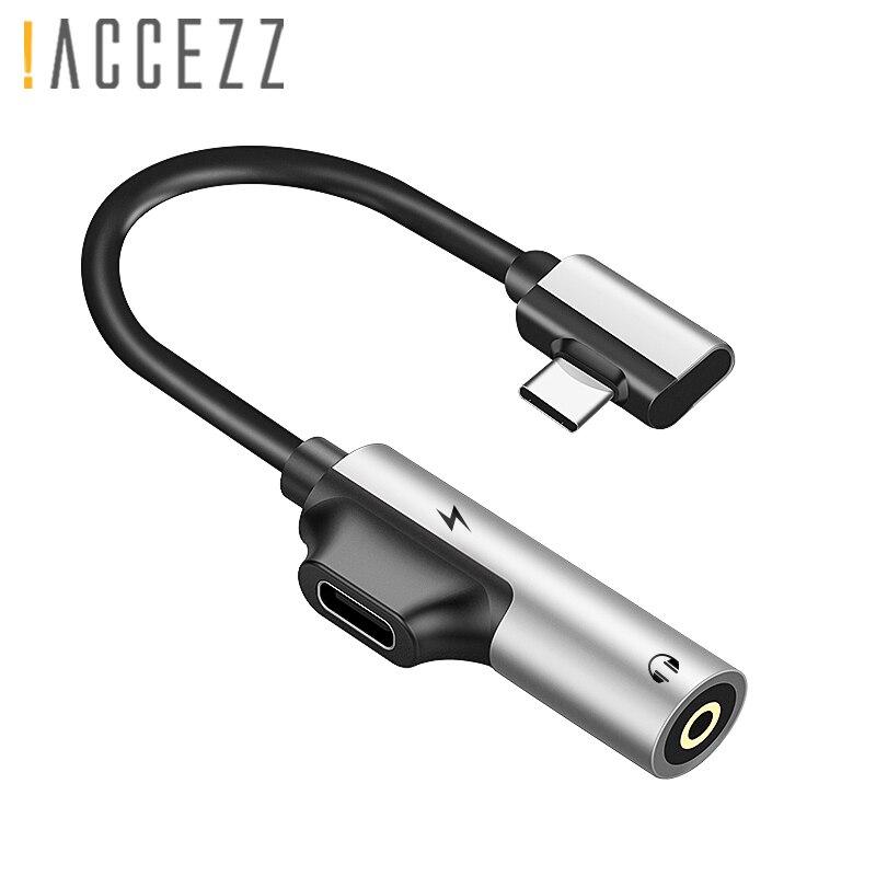 ! Tipo C Adaptador de Áudio USB Para Xiao mi mi ACCEZZ 6 5 Huawei Companheiro 10 Pro Jack Aux Adaptador Rápido carregamento de 3.5mm Conector De Fone de ouvido