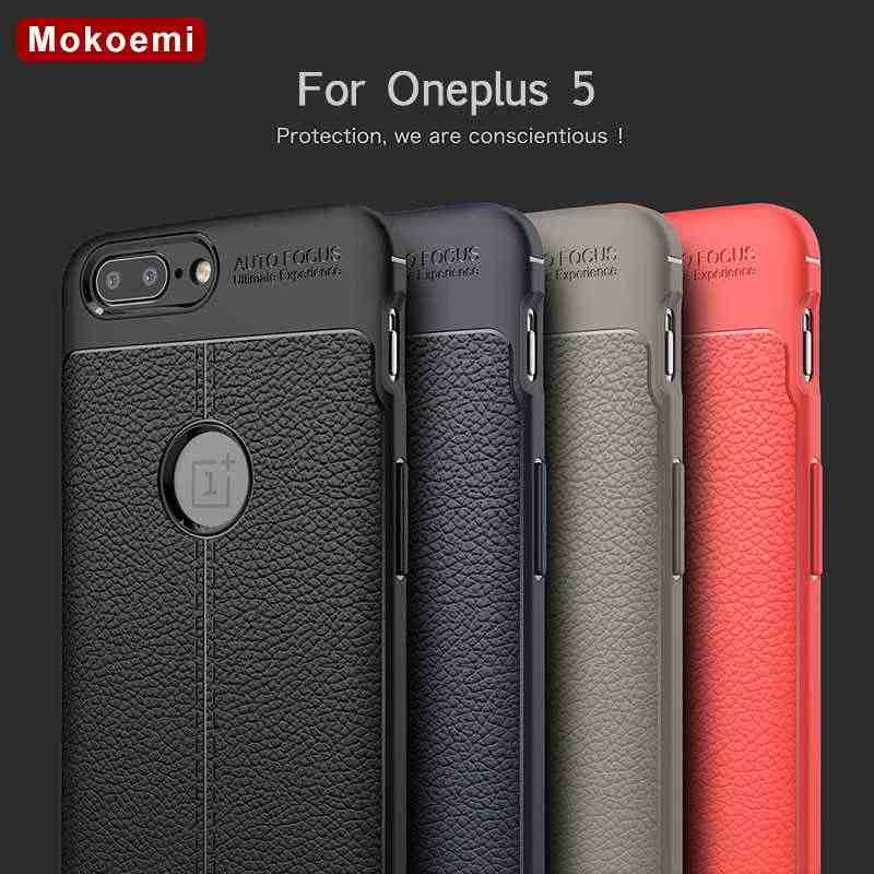 "Mokoemi Fashion Lichee Pattern Shock Proof Soft 5.5""For Oneplus 5 Case For Oneplus 5 Cell Phone Case Cover"