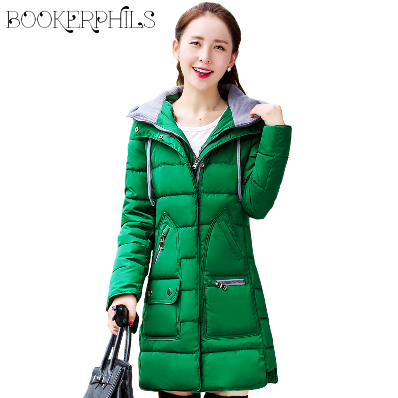 2017 Plus Size Long Cotton Winter Women's Coats With Hooded Thick Ladies Padded Jacket Autumn Casual Warm Female Parkas Outwear 2017 new long hooded winter wadded parkas slim warm padded female jackets thick overcoat outwear winter cotton coats fp0025