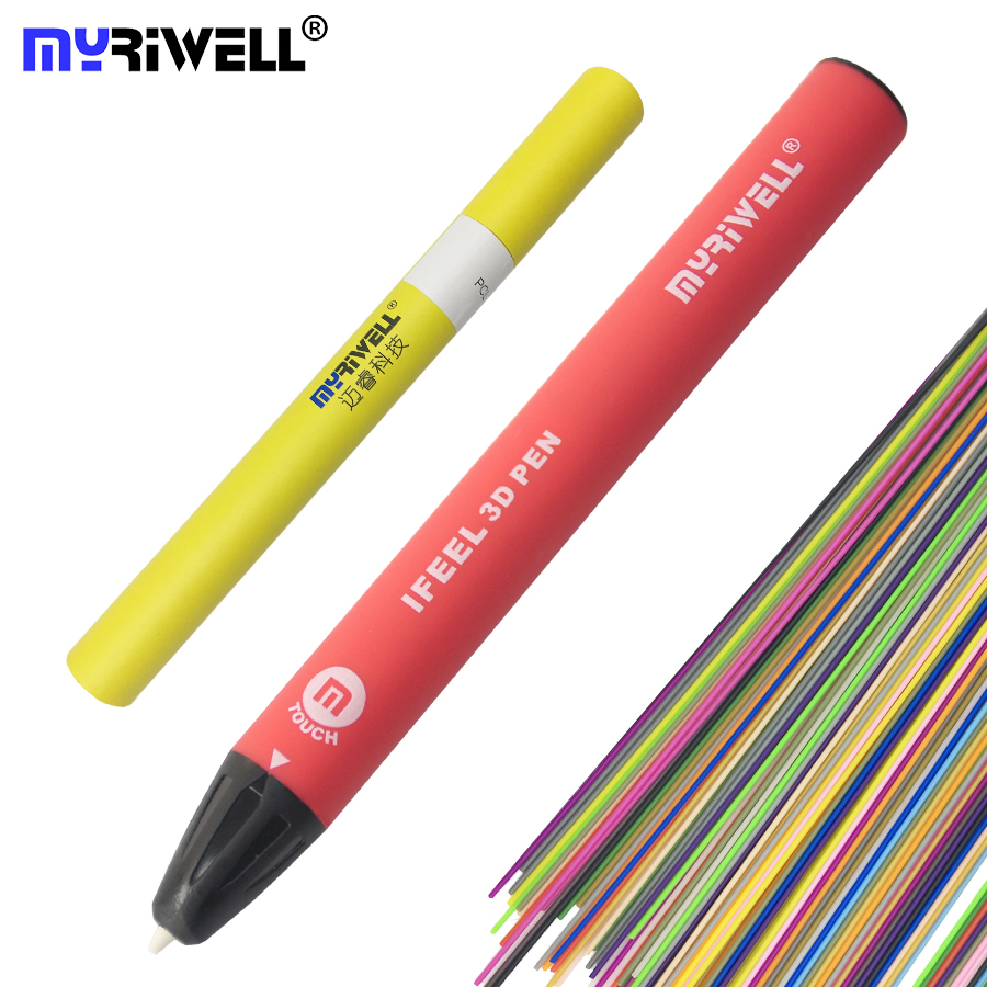 Myriwell touch sensing pen 3d pens 3d pen doodler Magic 3d printed pen USB Charging 1.75mm abs/pla Filament Silk The Best Gift