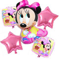 5 шт. Микки Маус фольгированные шары гелий мультфильм Минни воздушный шар дети 1-й день рождения украшения детские классические игрушки поставок