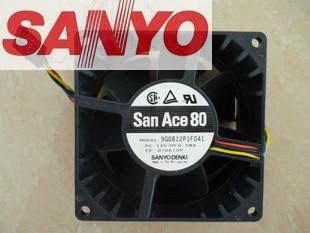 SANYO 9G0812P1F041 8CM DC 12V 0.58A For Dell OptiPlex GX520, GX620 Computer Server Cooling Fan