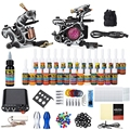 Smooth And Compact Surface Solong Tattoo Kit 2 Carbon Steel Machine Guns Power Supply 20 Needles 29 Colors for Artist Beginner