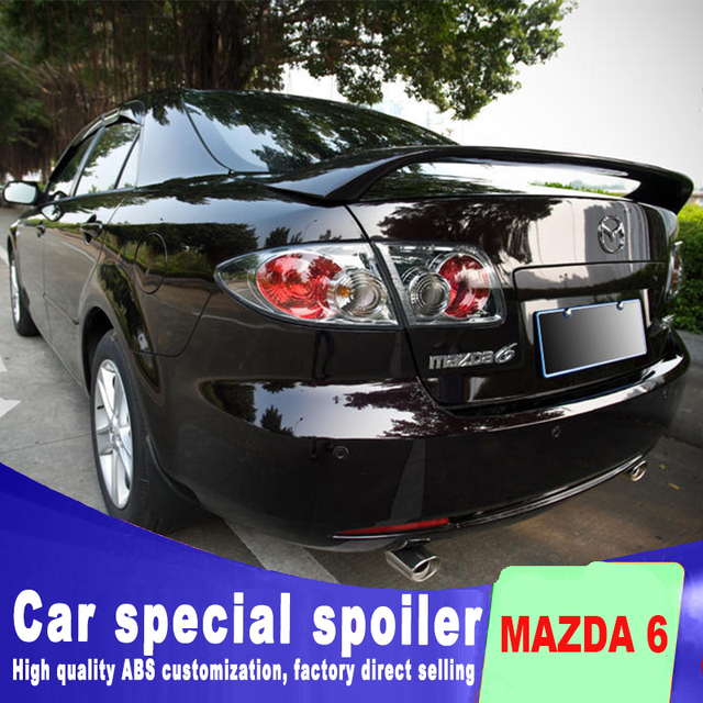 2004 To 2016 For Mazda 6 Spoiler By Primer Or Diy Color Paint High Quality Abs Spoilers Rear Trunk Are