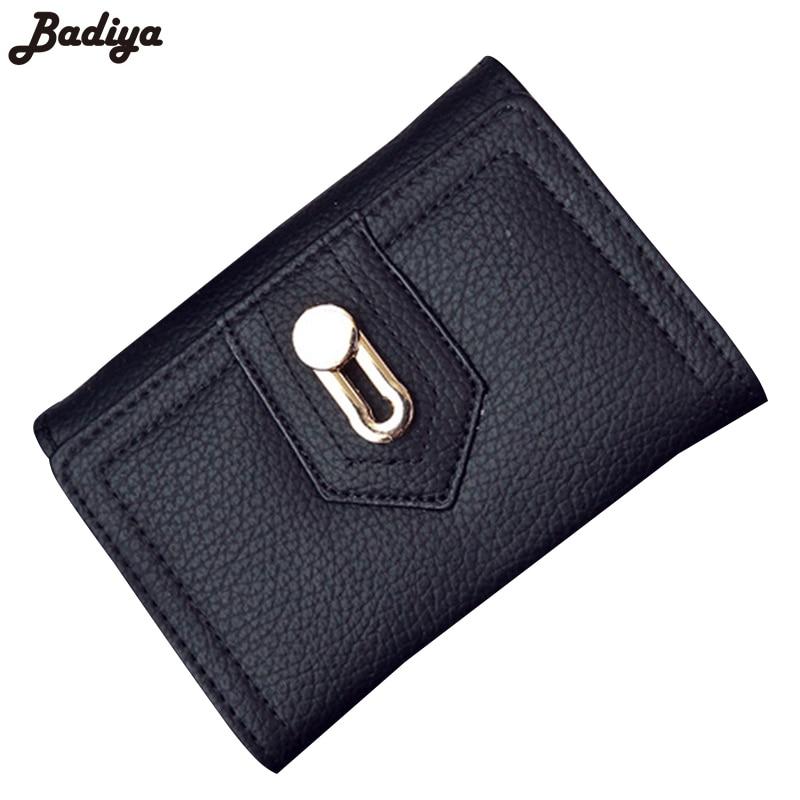 Women Fashion Purse Lady Clutch Wallets Card Holder Bag Three fold Button Wallet Female Brief Design Short New Small Purses стоимость